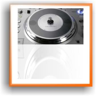 picture of a black and silver jog wheel from a cdj