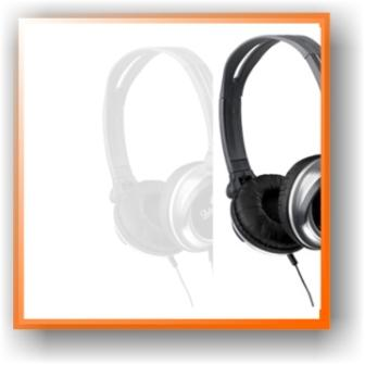 picture of grey, black & silver dj headphones